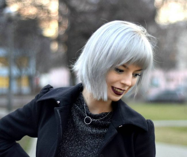 Striking Gray Bob