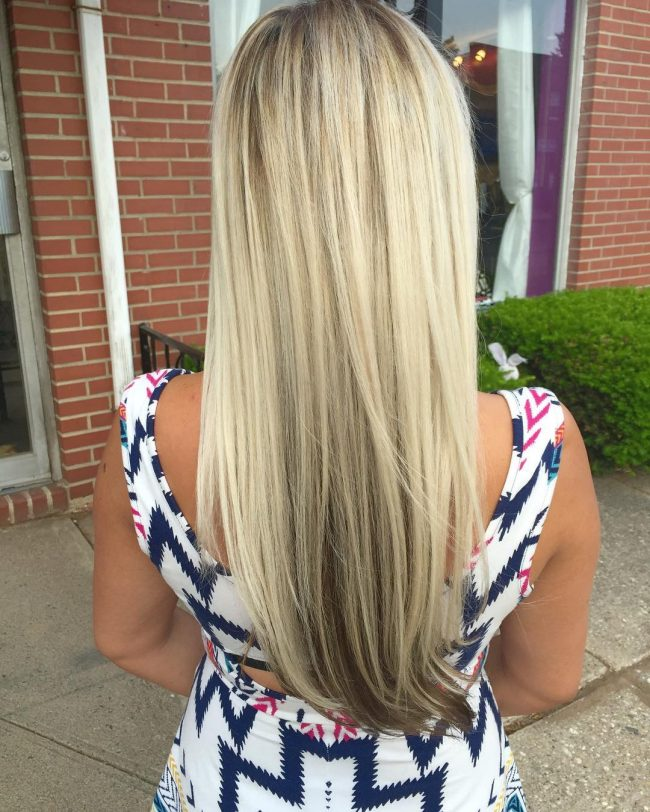 Summer Blonde Reverse Ombre Hair