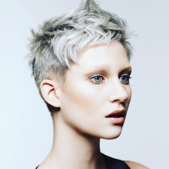 Textured Gray Pixie