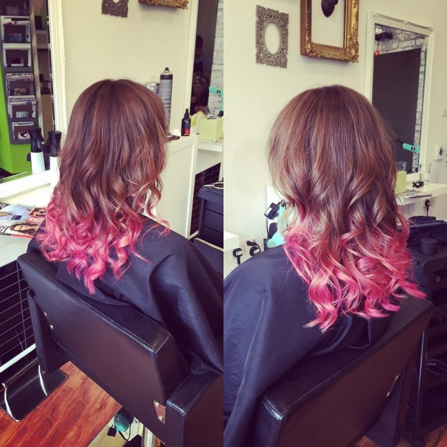 Three-Tone Curly Ombre