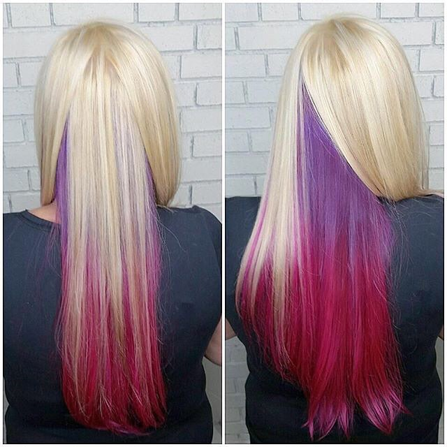 Three-Tone Pastel Ombre