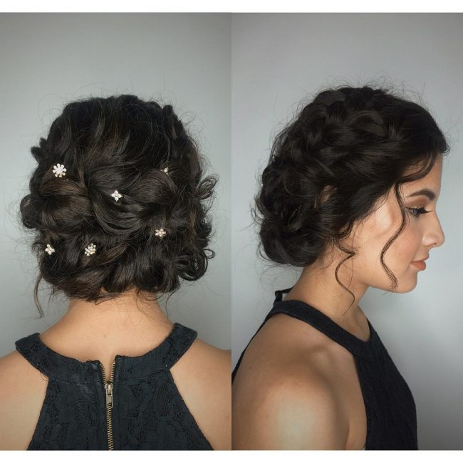 Twisted Curls for Brunettes