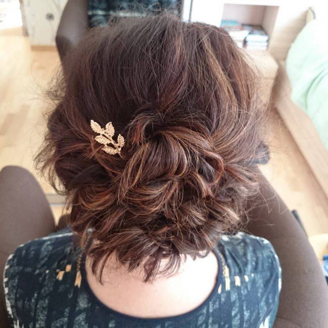 Updo for Very Short Hair