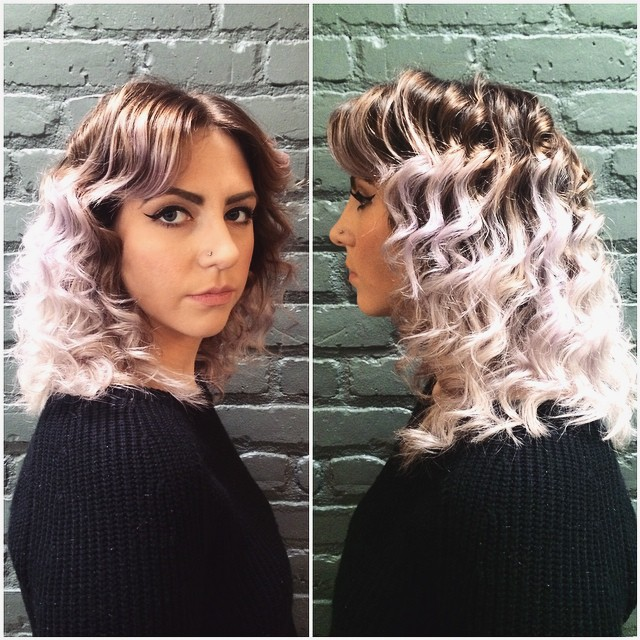 Vintage Waves with Platinum Pastel on an Ashy Base