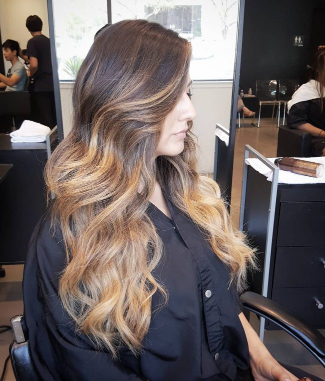 Voluptuous Blonde Balayage Ombre