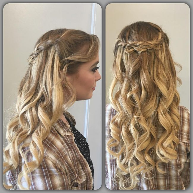 Waterfall Braid for Ash Blonde Ombre