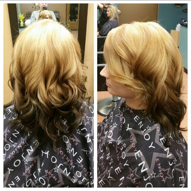Wavy and Voluptuous Blonde to Black