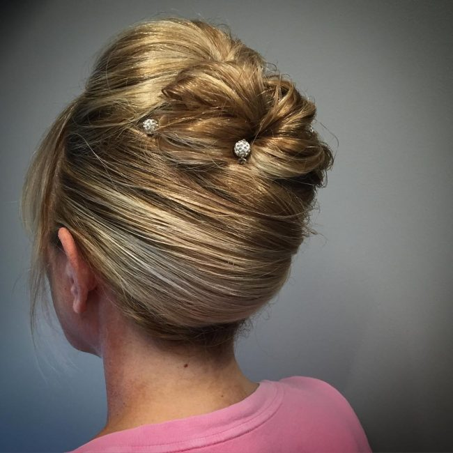 Adorable Golden Blonde Updo
