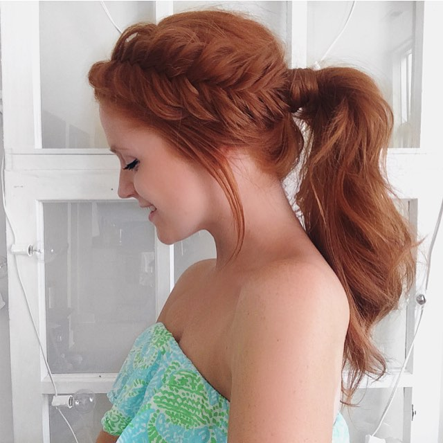 Adorable Redhead Fishtail