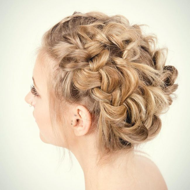 Around the World Braided Updo