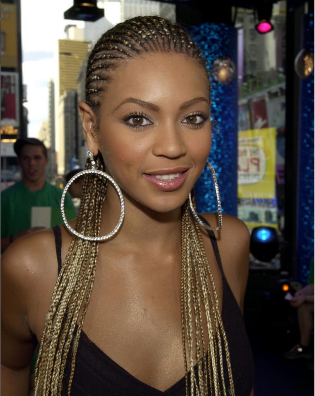 Beyonce's Golden Blonde Micro Rows