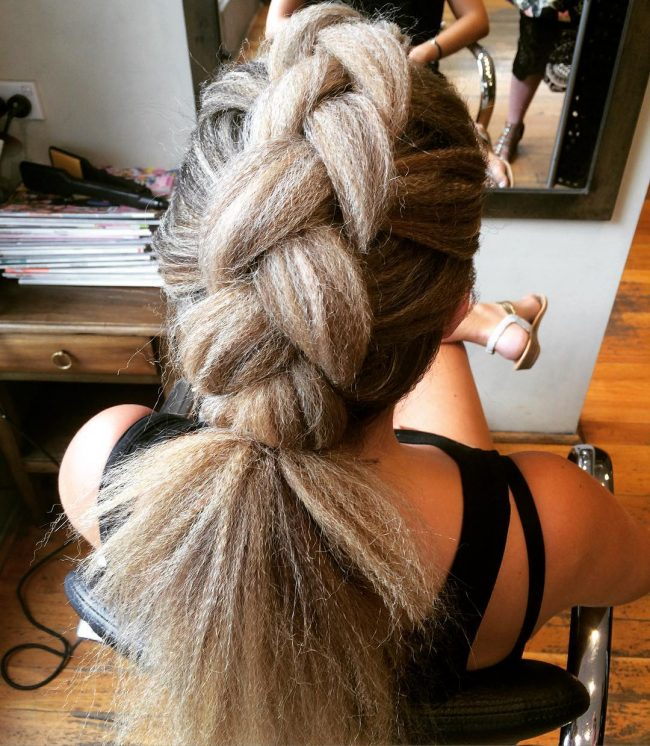 Big Braid With Crinkle Texture