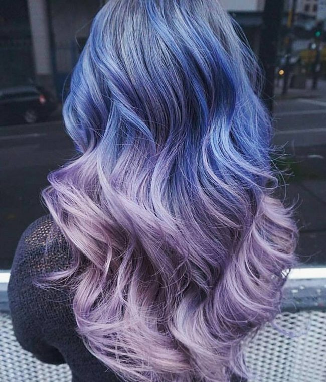 Blue to Lilac Ombre