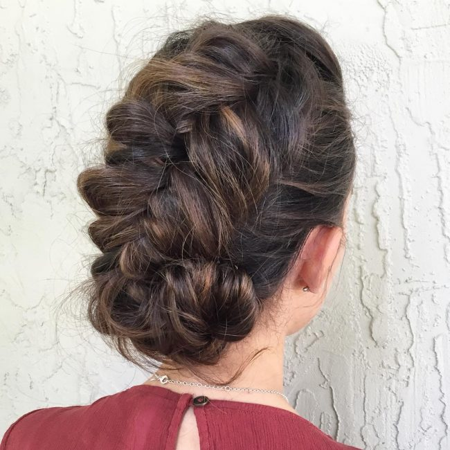 Bohemian Messy Updo Hairstyle