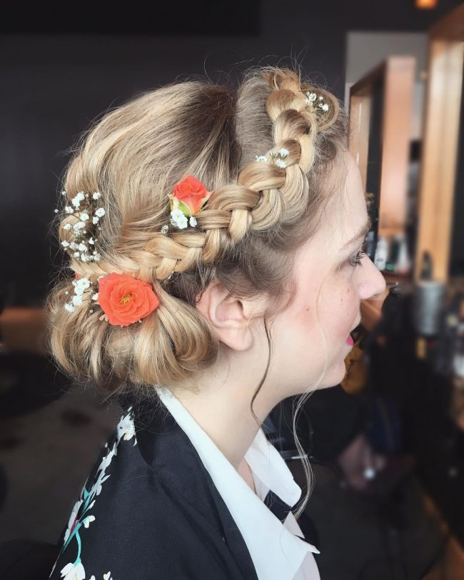 Boho Crown Updo