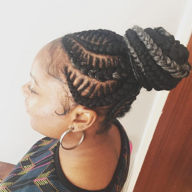 Box Braid Bun