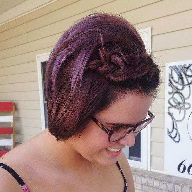 Braided Mauve Bob
