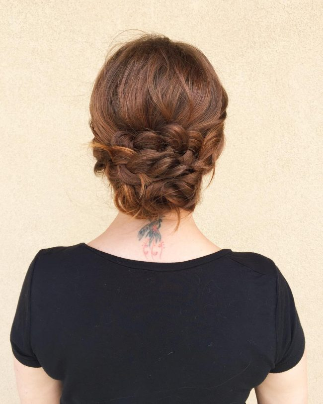 Braided Messy Chignon