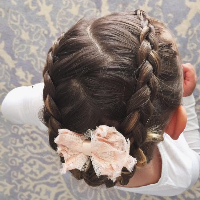 Braided Updo with a Bow