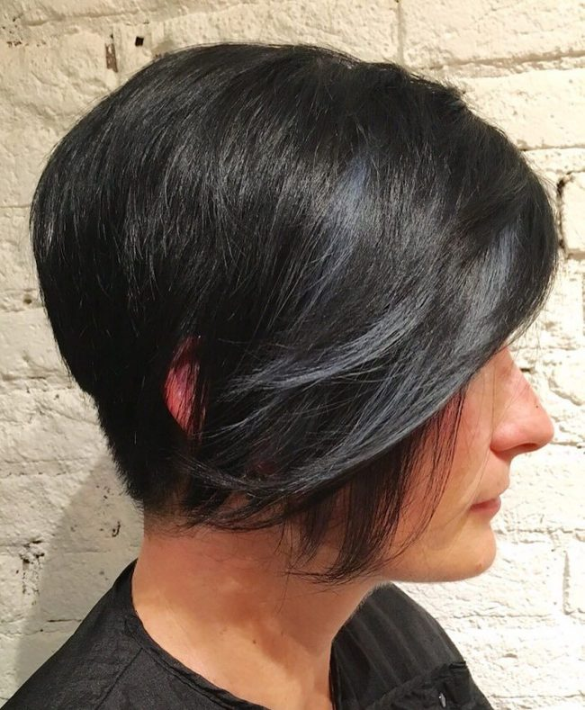 Buzzed Pixie with Side Swept Bangs