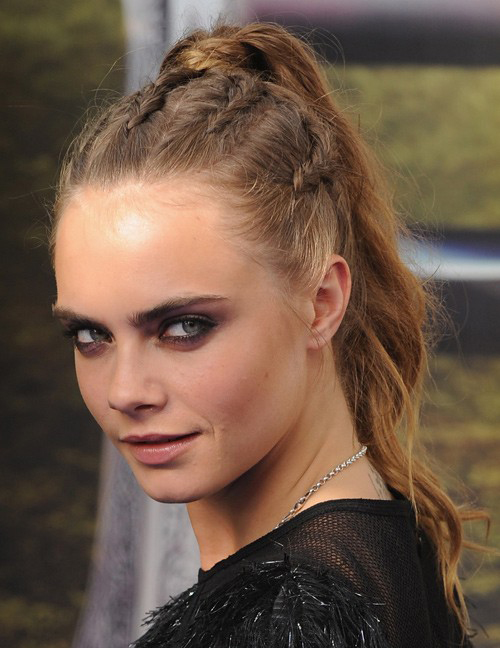 Cara's Charming Cornrows into a Ponytail