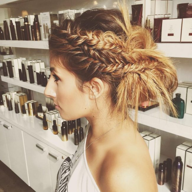 Chic Fishtail Updo