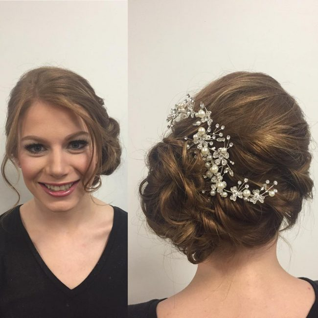 Cool Updo with Side Twist