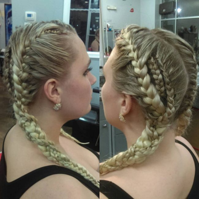 Cornrow French Braids