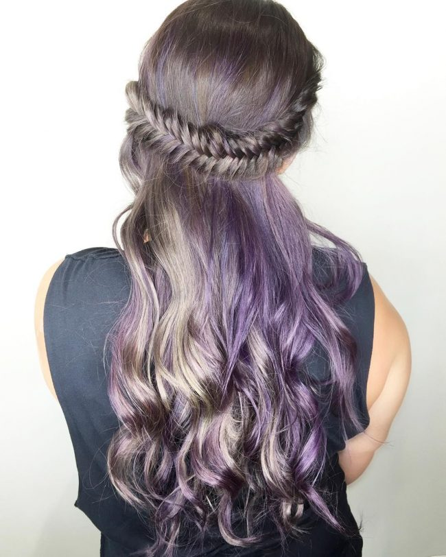 Creative Purple Fishtail Crown