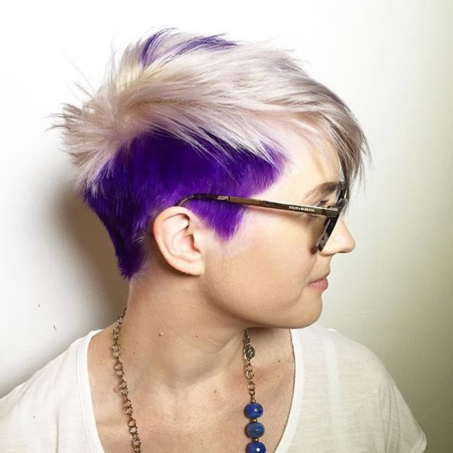 Creative Purple Pixie