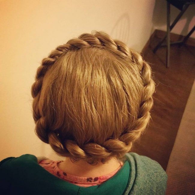 Crown Braid with a Rope Twist