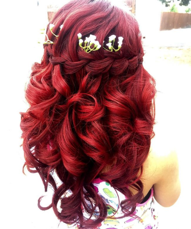 Curly Bridesmaids Style