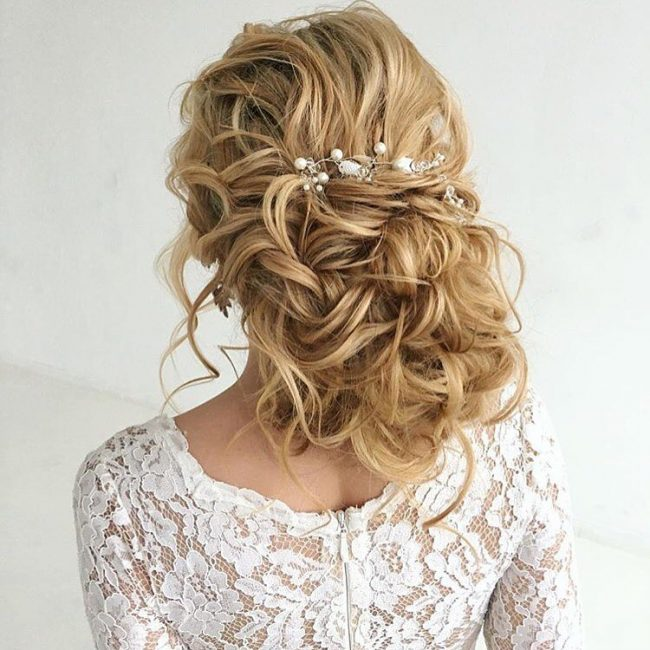 Curly Wedding Style
