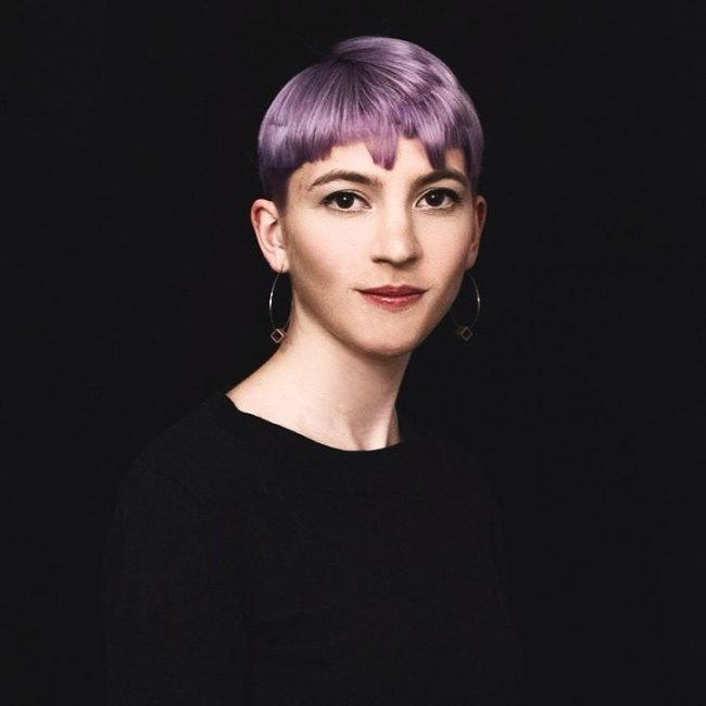 Cute Purple Bowl Cut