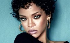 Dark and Curly Rihanna Short Hair