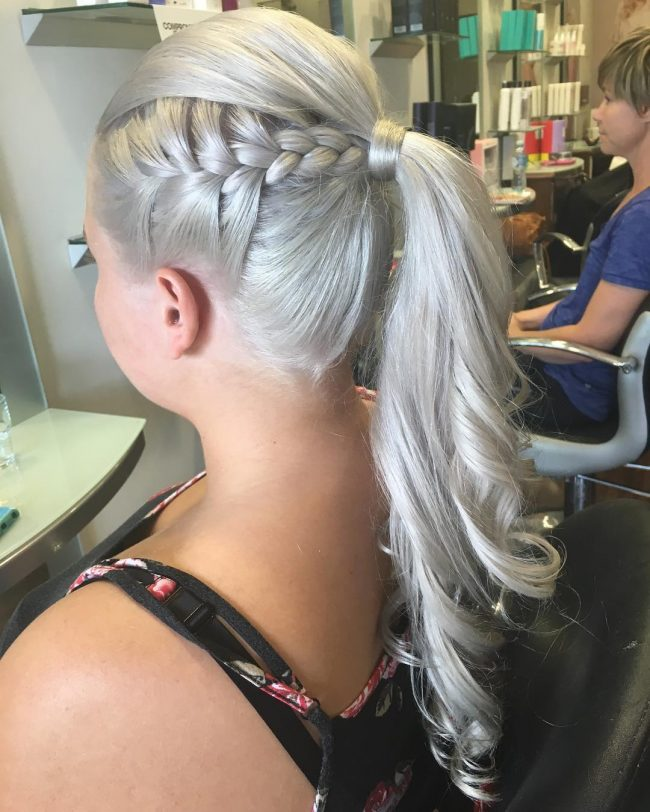 Dazzling Silver Toned Upstyle