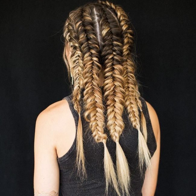 Dutch Fishtail Rows
