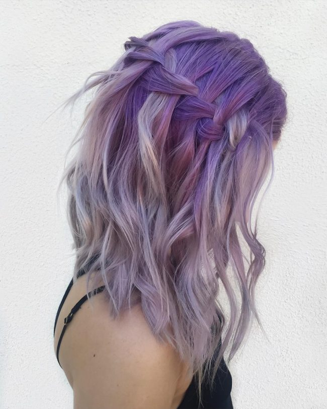 Ethereal Pastel Waterfall Braid