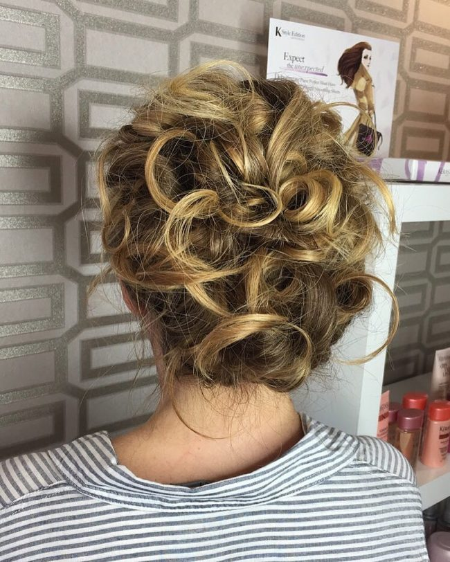 Extra Messy Bridal Hair