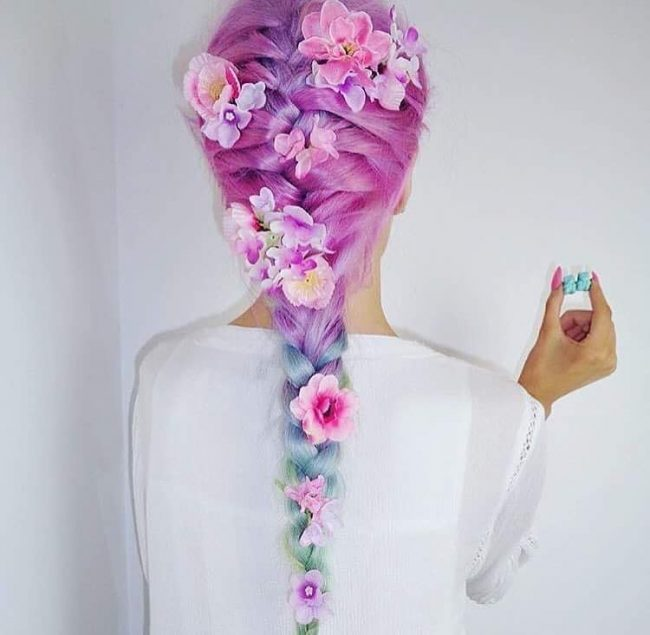 Fairy Hair with Flowers