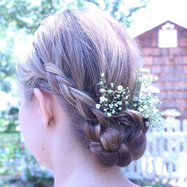 Fancy Low Twisted Chignon