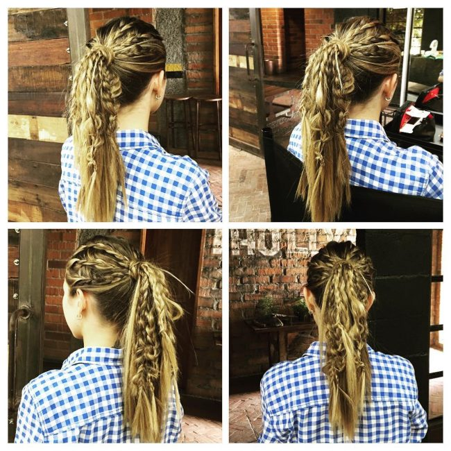 Fancy Rows of Twists and a Ponytail