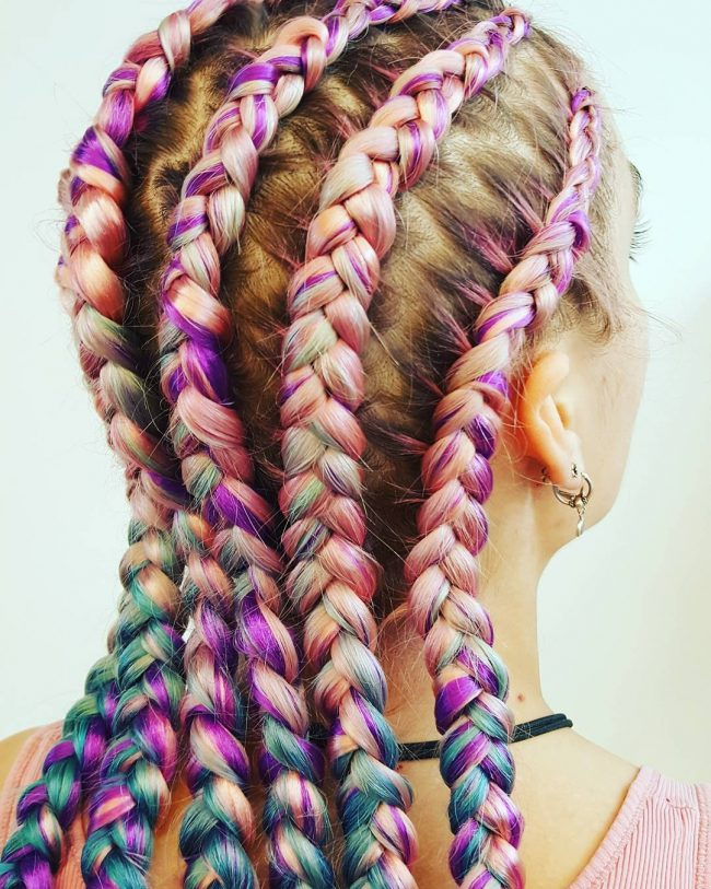 Fancy Unicorn Braids