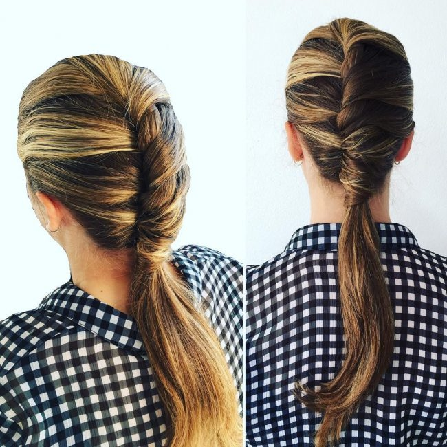 Fashionable French Twist Pony