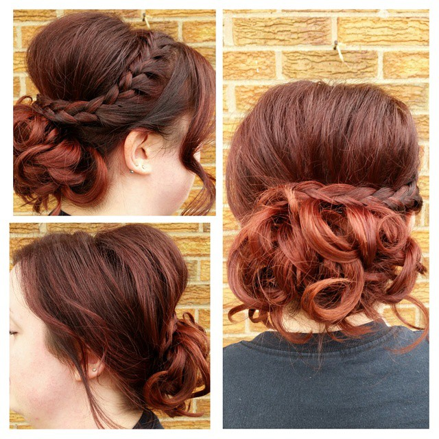 Fiery Braided Updo