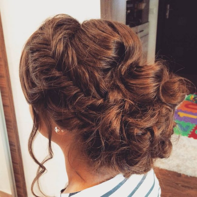 Fishtail Braid and Messy Bun