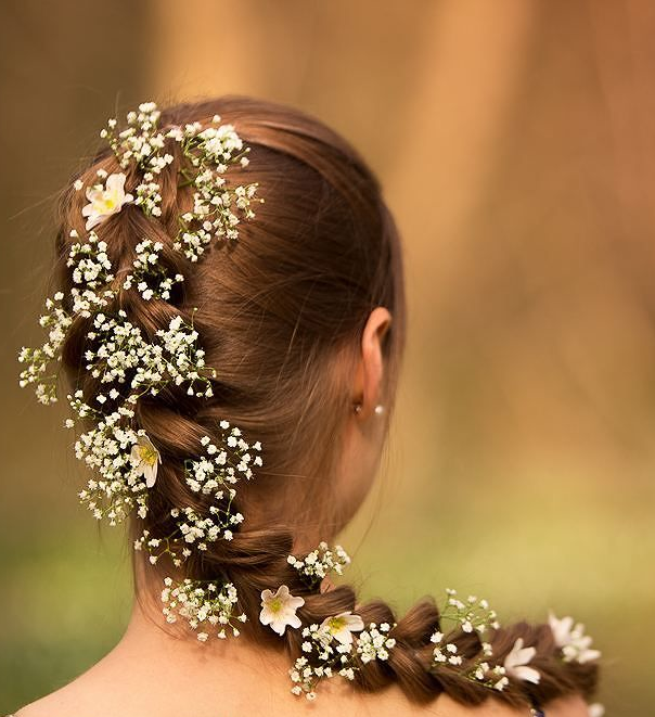 Flowered Pull Through Braid