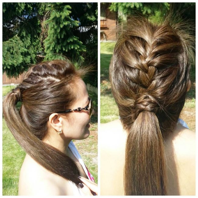 French Braid in a Low Knot