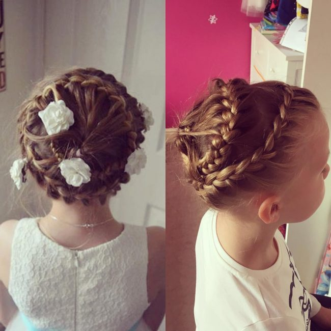 French Spiral Plaits
