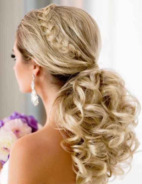 Gorgeous Bridal Curly Updo